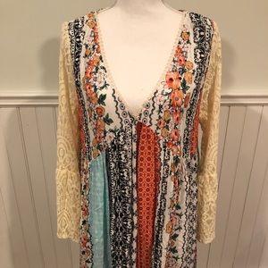 Last One!  V Neck Boho Dress